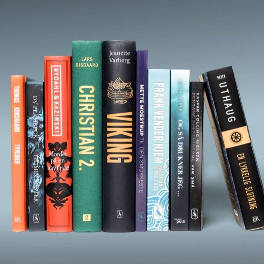 Billeder af de nominerede bøger