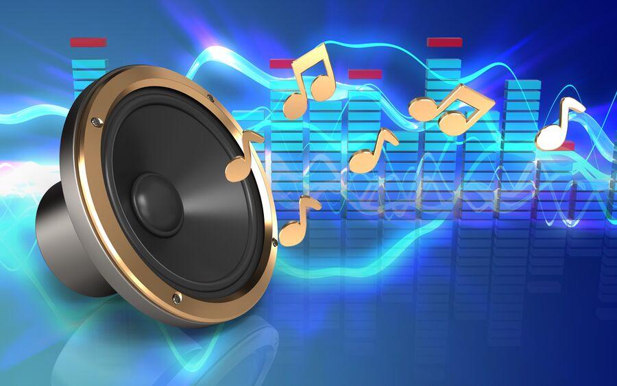 Billede af musik ud af højtaler