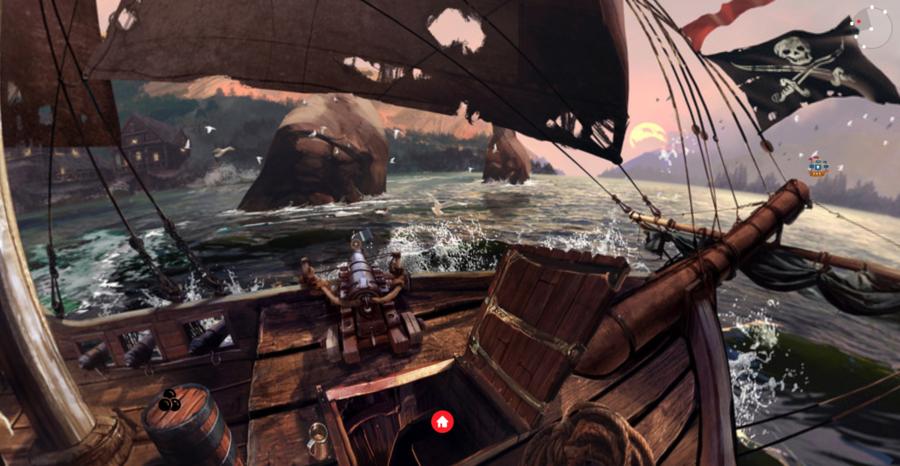 Et udsnit af DigiBibs område for modige pirater